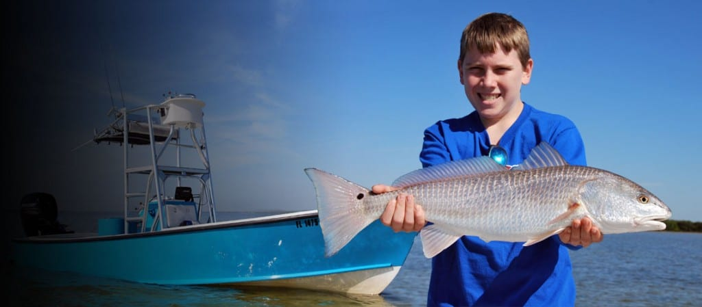 Redfish caught on Tampa Bay Guide service boat